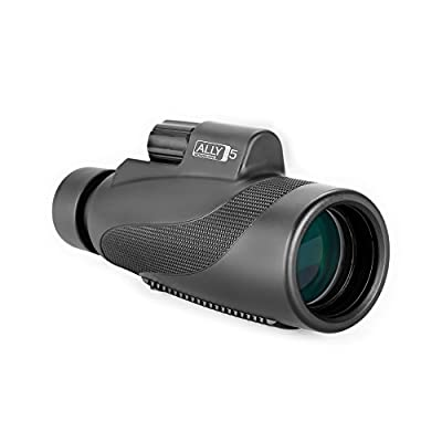 Heider Ally5 Monoscope 12x50 Compact Monocular Scope Waterproof, Fogproof - Zoomable Optic - Hunting Accessories - Bright and Clear - For Bird Watching or Wildlife - MAXIMIZE YOUR OBSERVATION SKILLS! by Metem International LLC.