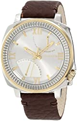Vince Camuto Men's VC/1003GYTT The Veteran Silver-Tone Dial Date Function Two-Tone Watch