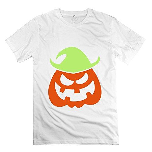 Sihan Naughty Halloween Scarecrow Men's Classic Tshirts Size XXL White (Coupon Spirit Halloween)