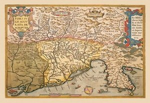 Map of Southern Europe 20x30 poster