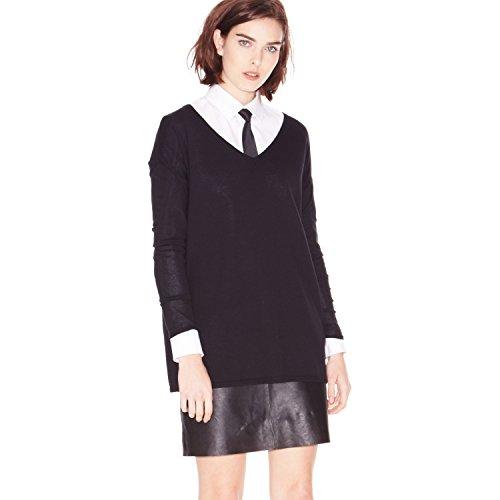 Hallhuber Pullover im Oversized-Cut kastenförmig schwarzL