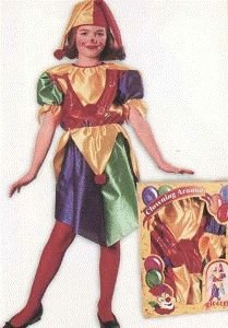 Pretty Giggles the Clown Child Halloween Costume Size 12-14 Large