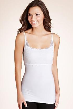 Tummy Control Floral Lace Longline Vest