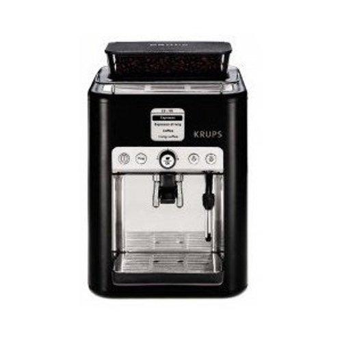 Cafetiere krups yy8111fd cafeti re expresso automatique noir et metal on sale - Cafetiere a grain krups ...