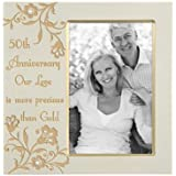 Malden 50th Anniversary Our Love is More Precious Than Gold Frame, 4 by 6-Inch