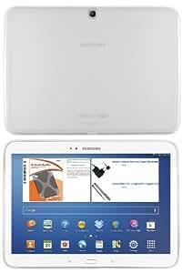 mumbi silicone TPU Coque Samsung Galaxy Tab 3 (10,1 pouces) - Silicone Etui Housse Protecteur Case Blanc transparent