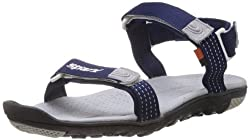 Sparx Mens Blue Nylon Sandals and Floaters - 7 UK