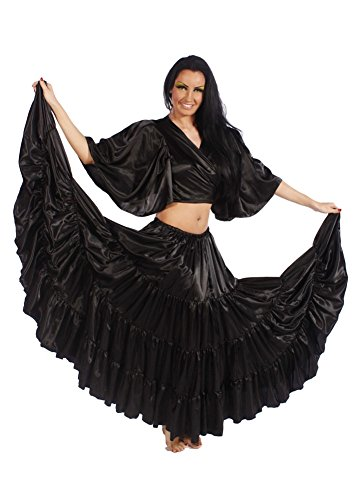 Belly Dance 17 Yard Satin Skirt | The Goddess