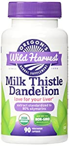 Oregon's Wild Harvest Milk Thistle Dandelion Supplement, 90 Count, 90 Fluid Ounce