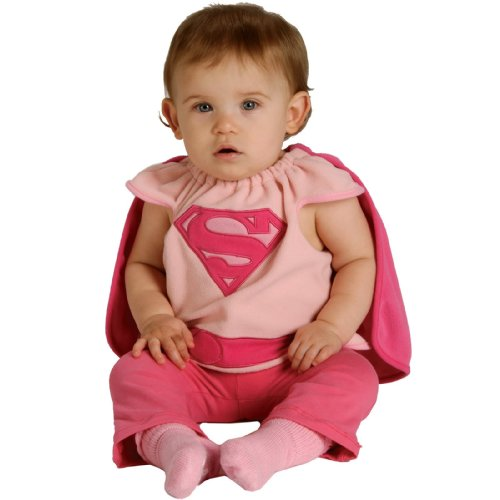 Rubie's Costume Co Baby Girl's DC Superheroes Supergirl Deluxe Bib, Multi, One Size