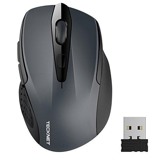 TeckNet Pro Mouse Senza Fili, 2400DPI, Durata delle batterie di 24 Mesi, 2.4G