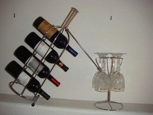 Countertop Wine and Glass Racks