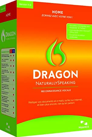Dragon NaturallySpeaking Home v11.5 (Micro-casque inclus)