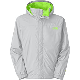 The North Face Resolve Rain Jacket for Men High Rise Grey/Power Green XXX-Large