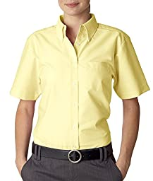 Ladies\' Classic Wrinkle-Free Short-Sleeve Oxford (Butter) (X-Large)