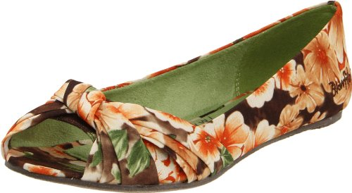 Blowfish Women's Sanchia,Brown Lola Floral Fab,6 M US