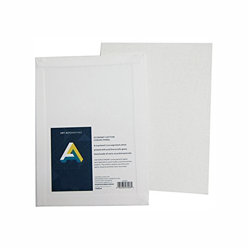 Canvas panels 5 x 7 inch (pack of 12) by Art Alternatives (Canvas Panels 5x7 compare prices)