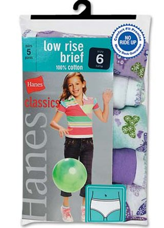 Hanes Classic Low-Rise Briefs (5-Pack)