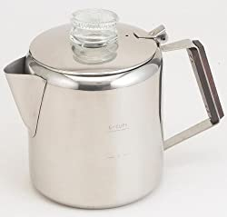 Rapid Brew Stainless Steel Stovetop Coffee Percolator, 2-6 cup made by Tops MFG. CO., Inc.