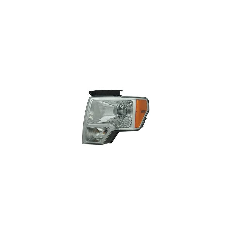 DRIVER SIDE HEADLIGHT Ford F 150, Ford F 250, Ford F 350, Ford F 450 HEAD LIGHT ASSEMBLY; WITH ALUMINUM BEZEL; TO 3/1/09;