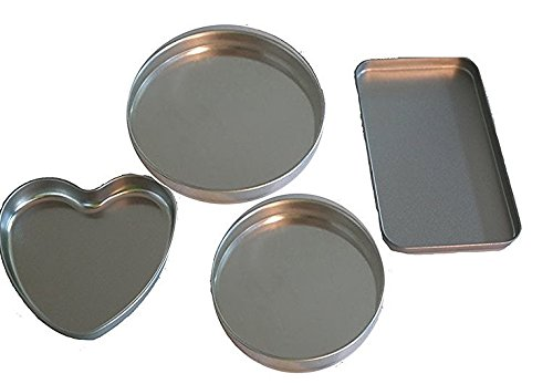 4 Pan Kit to fit Easy Ovens Bake , Heart Pan, 2 Round Pans & 1 small extra rectangle pan replacements (Small Oven Kids compare prices)