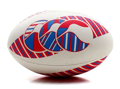 CCC Hopu Training Rugby Ball White/Multi - size 4
