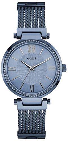 Guess W0638L3 - Reloj con correa de metal, para mujer, color azul
