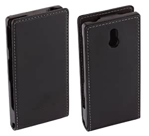 Genuine Sony Xperia U Black Leather Flip Case - SMA5119B