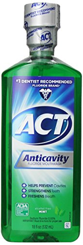 ACT Anticavity Fluoride Mouthwash, Mint, Alcohol Free