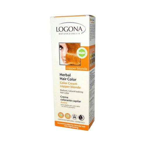 Logona Herbal Hair Color Cream Copper Blonde, 5.07 Ounce