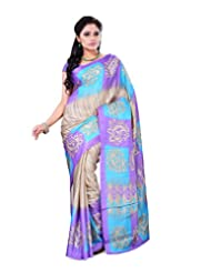 Surat Tex Multicolor Crepe Daily Wear Printed Sarees With Blouse Piece-E536SE1005BAS