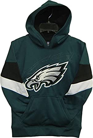 Philadelphia Eagles Green NFL Youth The Edge Pullover Hooded Sweatshirt - Hoody by OuterStuff