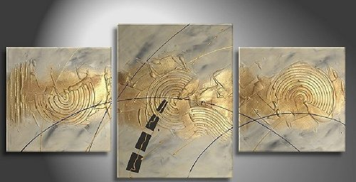 100% Art Hand Painted Modern Abstract Oil Painting on Canvas Wall Art Deco Home Decoration 3 Pic/set Stretched Ready to Hang larts floral thick painted knife tress hand painted oil painting yellow