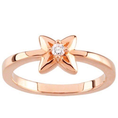 10K Rose Gold Diamond Promise Ring - 0.05 Ct. - Size 5