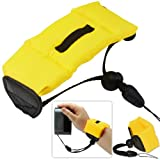 First2savvv new yellow Bobber Floating floaty grib Handheld digital camera SLR hand strap grip for OLYMPUS FE-5030 FE-5035 FE-5040 FE-5050 T-100 TG-820 TG-630 VG-180 VH-410 VH-210