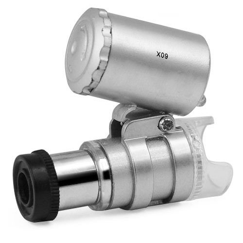Kingmas Mini 60X Led Pocket Microscope Jeweler Magnifier Adjustable Loupe