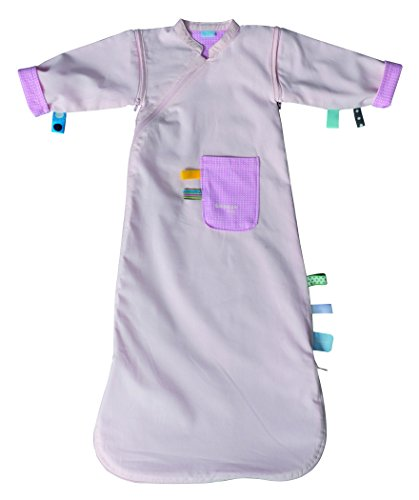 Snoozebaby Comfort Sleepsuit with Detachable Sleeves, Pink, 3-9 Months