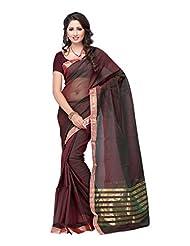 Fabdeal Brown Cotton Printed Saree Sari Sarees - B00Q49A9A2