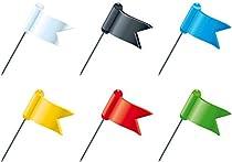 Boite de 20 epingles drapeaux - hauteur de pointe 16mm - Multicolore