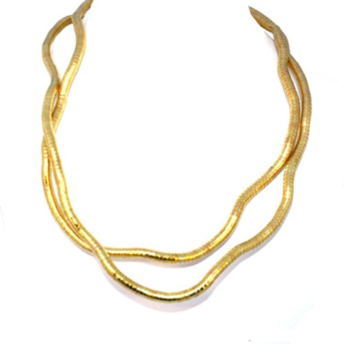 Make Your Own 6mm Flexible Bendable Snake Rope Gold Pl Necklace 34
