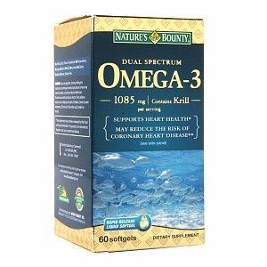 Nature'S Bounty Dual Spectrum Omega-3 1085Mg, Softgels, 60 Ct