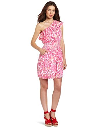 Lilly Pulitzer Women's Jessy Dress, Hotty Pink Sailors Valentine, Medium