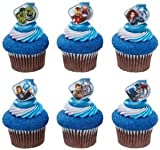 Marvel Avengers Superhero Cupcake Rings - 12 ct