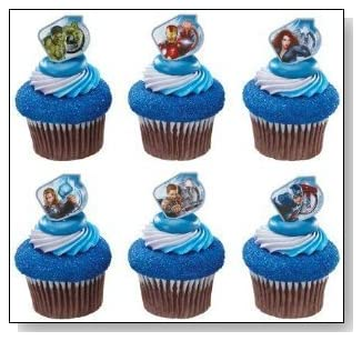Marvel Avengers Superhero Cupcake Rings