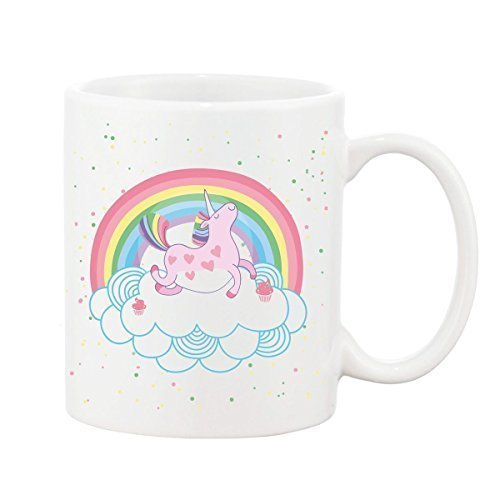 Happy Unicorn Tazza Regalo Tazza da caffè in ceramica Tea Divertente Slogan 10oz