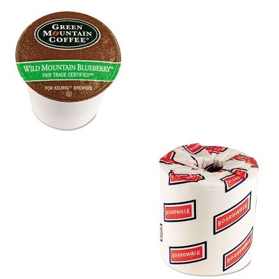 Kitbwk6180Gmt6783Ct - Value Kit - Green Mountain Coffee Roasters Fair Trade Wild Mountain Blueberry Coffee K-Cups (Gmt6783Ct) And White 2-Ply Toilet Tissue, 4.5Quot; X 3Quot; Sheet Size (Bwk6180)