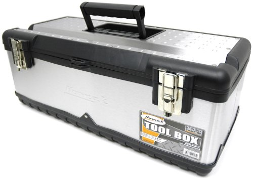HOMAK SS00122500 23-Inch Stainless Steel Tool Box