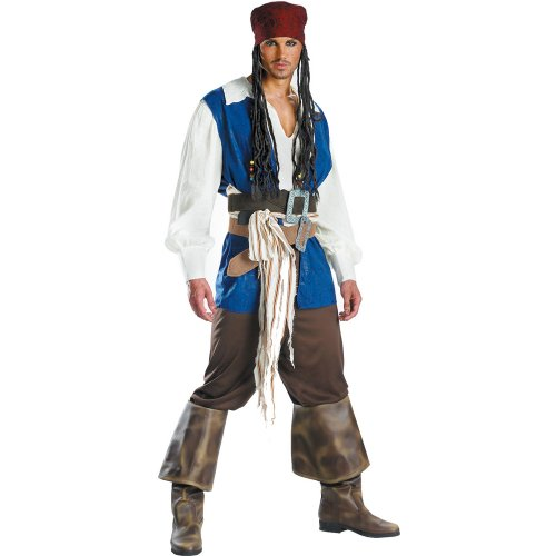 Disguise Mens Pirates Of The Caribbean - Captain Jack Sparrow Adult Costume