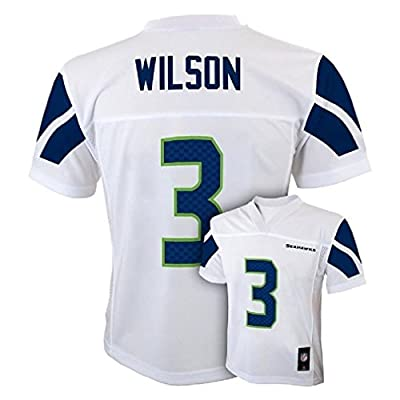 Russell Wilson Seattle Seahawks #3 NFL Youth Mid-Tier Alternate Jersey White
