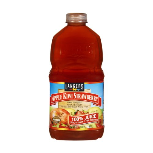 Langers Apple Kiwi Strawberry 100% Juice, 64 Fz (Pack Of 8) front-8938